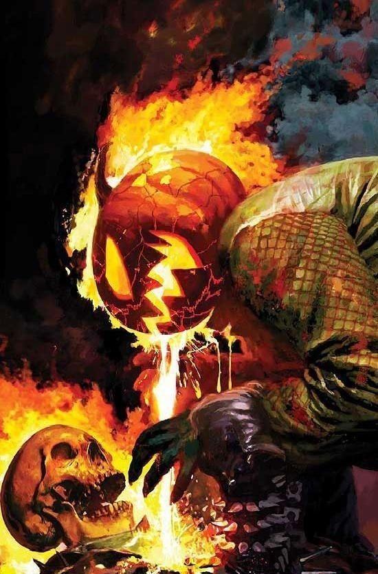 "Ghost Rider vs Jack O'Lantern - Arthur Suydam. """