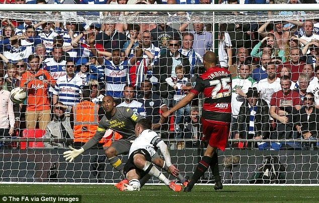Wembley 2014 Bobby Zamora's shot is going in!