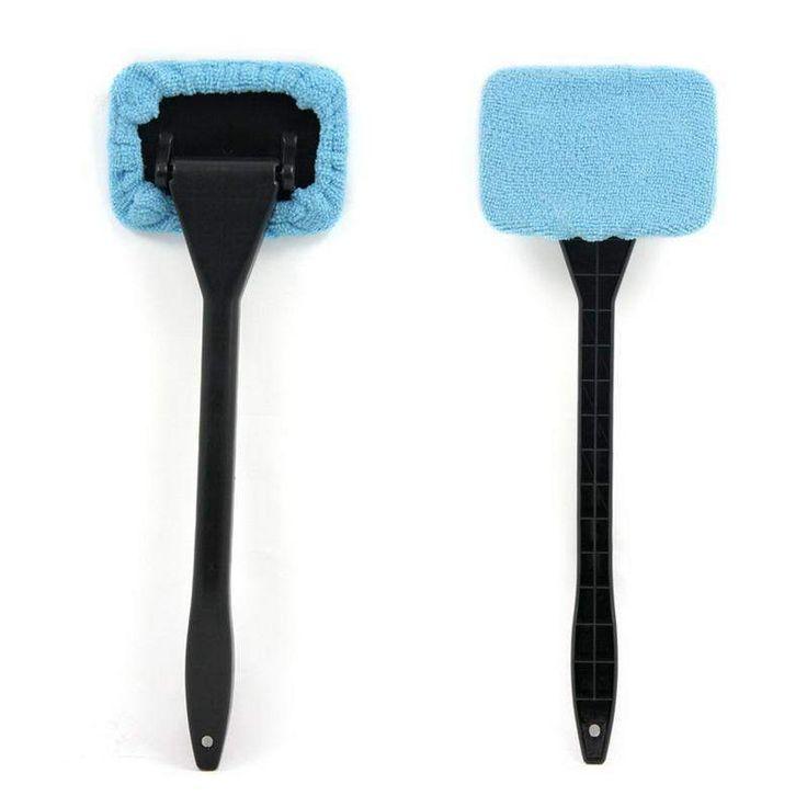 Long Handle Car Washer Brush Car Window Microfiber Auto Window Cleaner Windshield Wiper Cloth Clean Tools Washable Shine Handy
