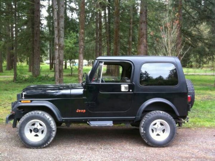 1987 Jeep CJ7 add a gold strip and this was my old jeep exactly. Miss it!!