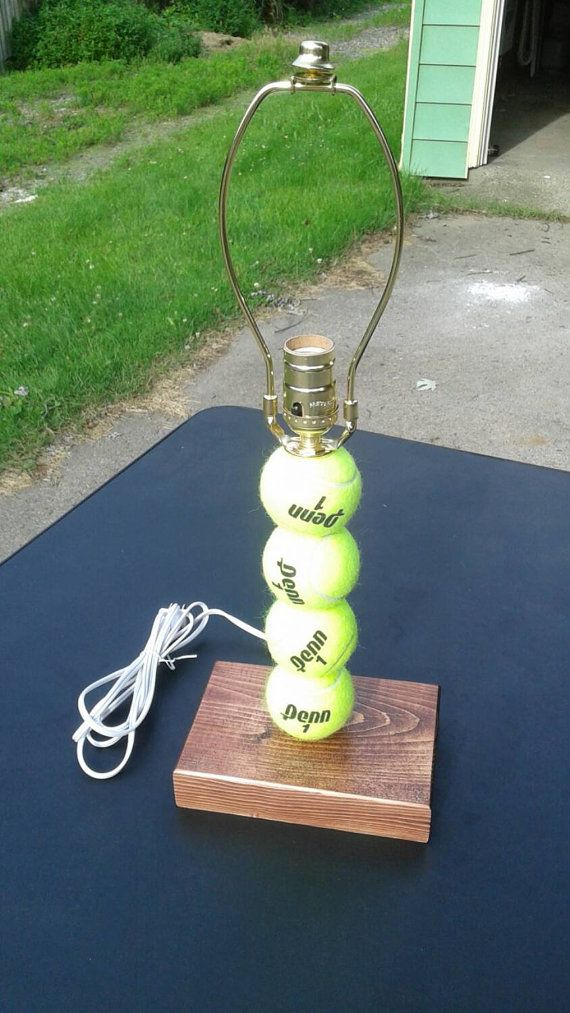 Tennis ball lamp. Made with real tennis balls by SSCElkhart