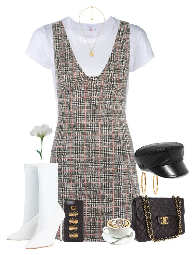 """""""Set 770 -"""" by xjulie1999 ❤ liked on Polyvore featuring RE/DONE, Topshop, Chanel, Gucci, Yeezy by Kanye West and Prada"""