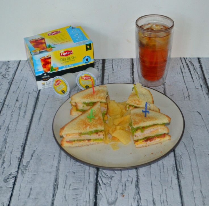 The Hezzi-D Club Sandwich with Lipton Iced Tea - Hezzi-D's Books and Cooks  #TEArifficPairs #shop