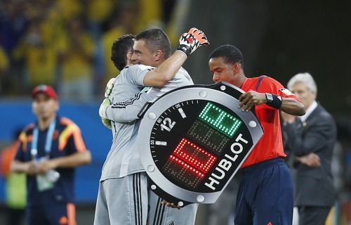 Colombia manager Jose Pekerman provided us with one of the most touching moments of this incredible tournament when he subbed on reserve goalkeeper Faryd Mondragon. At 43 years and 3 days old, he is the oldest player to ever appear at a World Cup, besting legendary Cameroon striker Roger Milla (42 years, 39 days at the 1990 World Cup):
