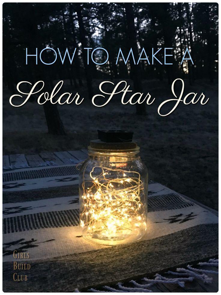 Make A Star Jar With Solar Fairy Lights Solar Fairy Lights Fairy Lights In A Jar Mason Jar Fairy Lights