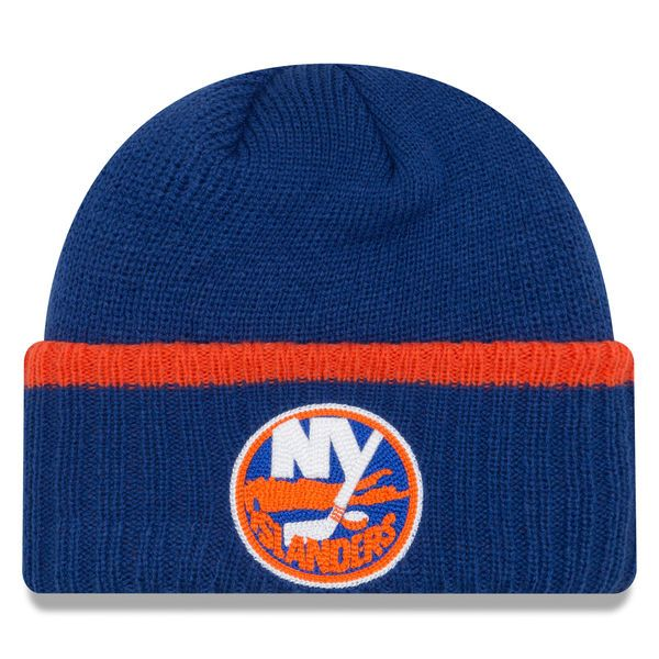 New York Islanders New Era Ribbed Up Team Cuffed Knit Hat Knit Beanie - Royal - $22.99