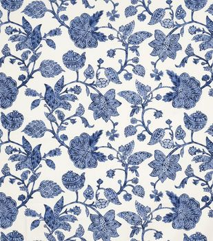 Home Decor Print Fabric-Jaclyn Smith Dunbar-Indigo