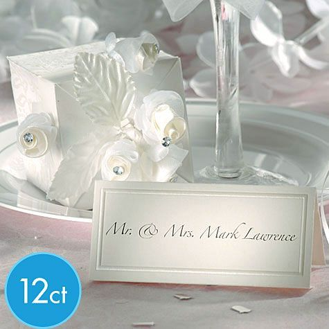 ivory printable place cards 12ct wedding place cards u0026 holders wedding decorations weddings