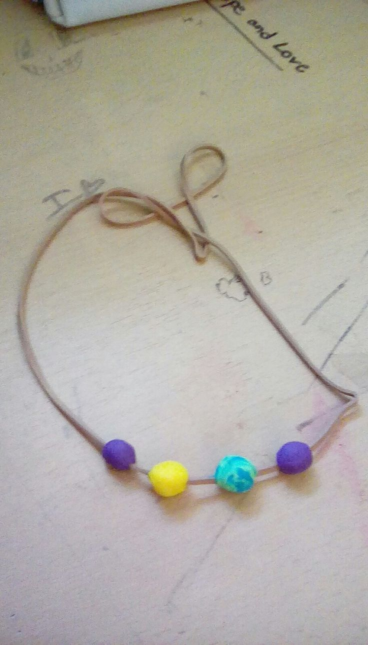 Diy camp half blood necklace play doe and large rubber band!