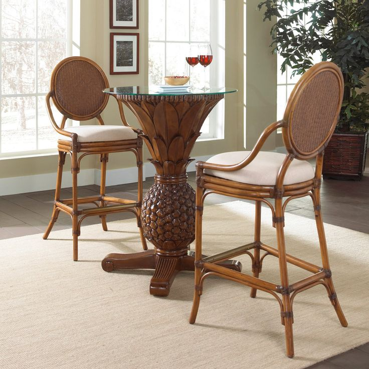 Wicker Furniture Sets Indoor ... Pub Set With Cushions   TC Antique   Indoor Part 23