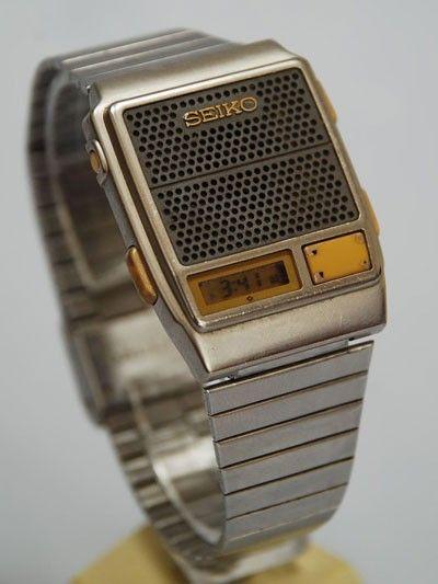 SEIKO A966-4010. Digital LCD talking watch, 1984