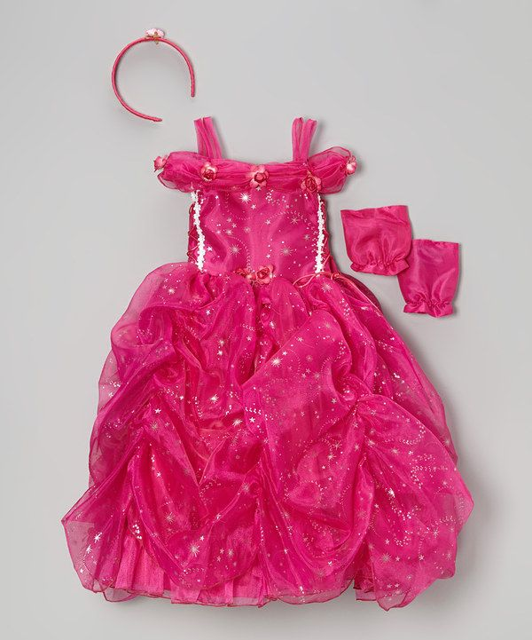 Look at this Fuchsia Star Princess Dress-Up Set - Toddler