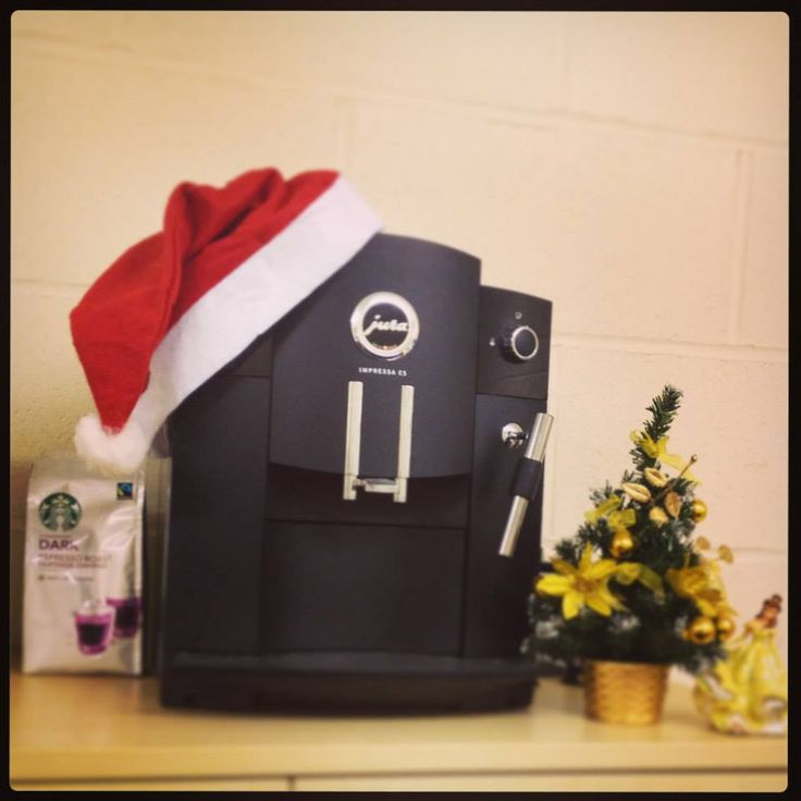 We love our Christmas coffee machine - A warming cure for our wonderful sales staff on the cold and frosty mornings