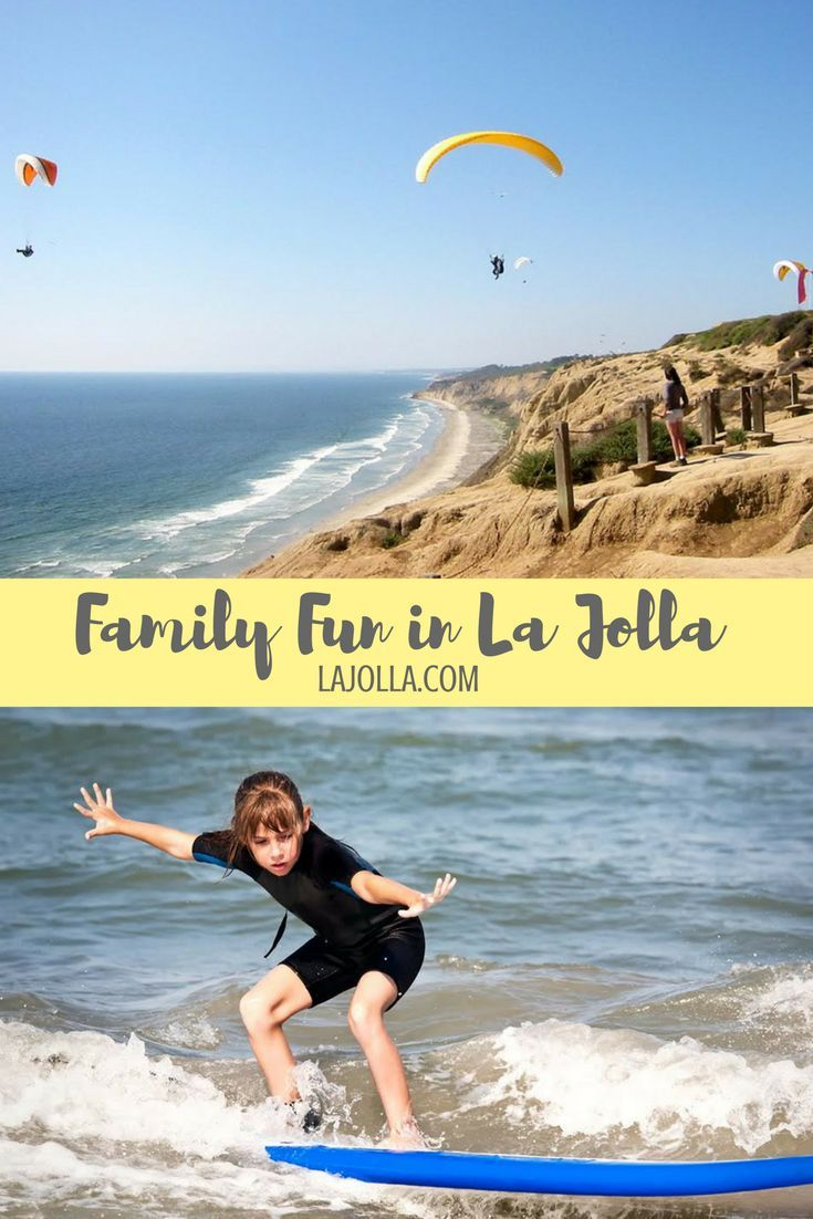 La Jolla's beaches are a great destination for all ages.