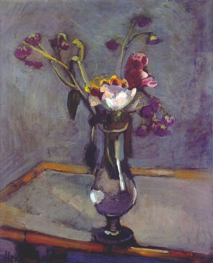 Bouquet on a Bamboo Table. 1903. Henri Matisse