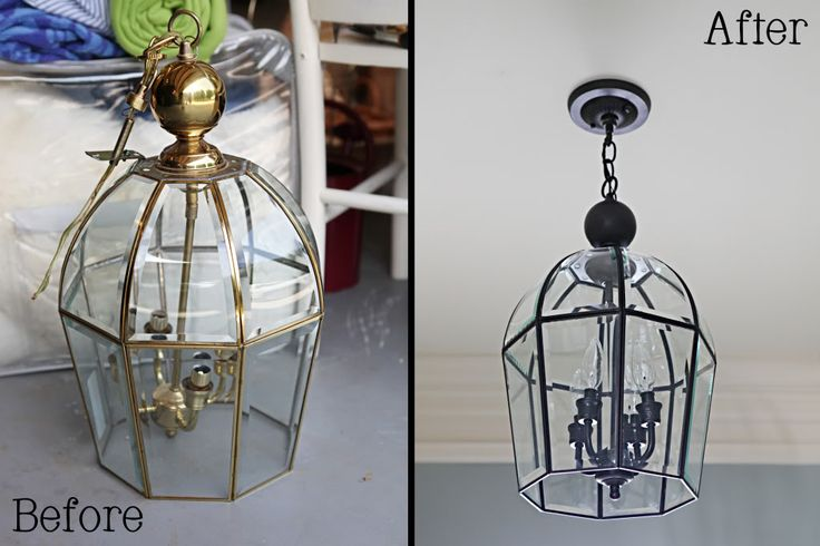 Another light fixture redo ... I want to do this with my foyer light (if I can get a ladder in there to get it down!)