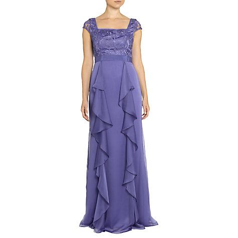 Buy Adrianna Papell Wisteria Guipure Lace Gown, Wisteria Online at johnlewis.com