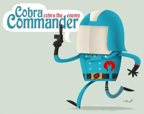 Cobra Commander - Cute Meanies Of 1980′s Cartoons (by Matt Kaufenberg) #GIJoe #Cobra