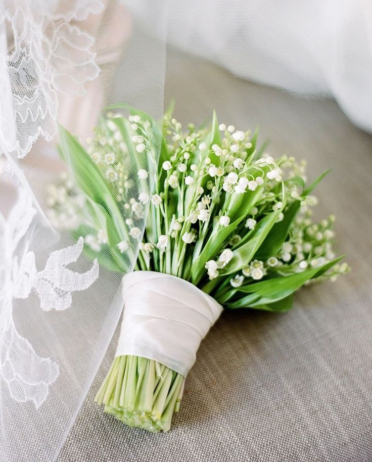 Lily of the Valley bouquet Affordable wedding flowers