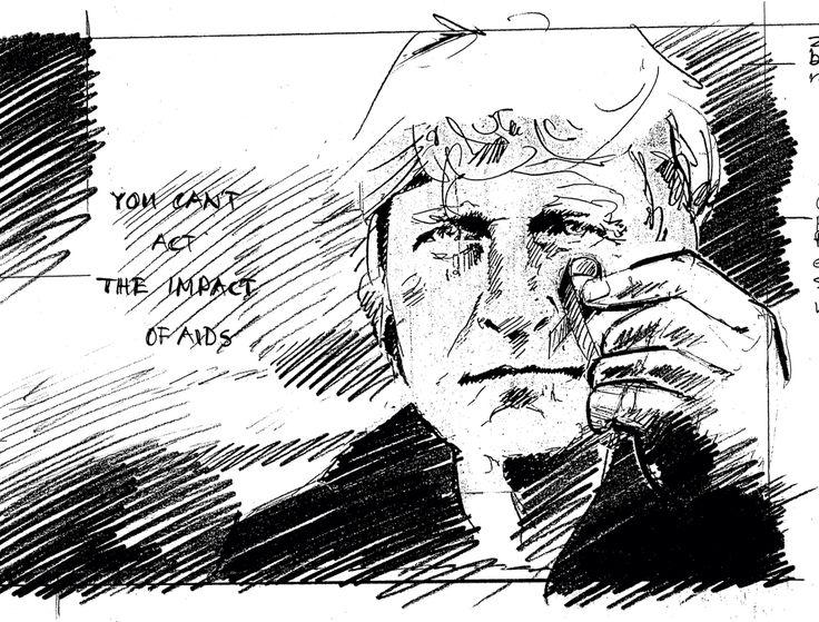 Sketch Rutger Hauer. Van Bommel campaign by Huub van Osch #vOSCH #thebrandguide