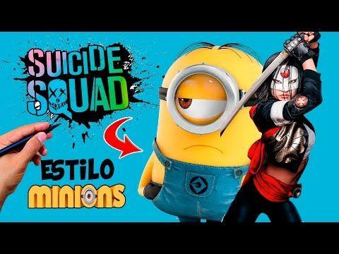 Cómo Dibujar a Katana scuadron suicida estilo Minions│suicide squad  Videos  - YouTube
