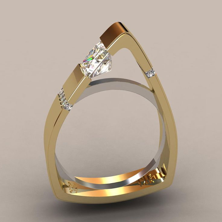 How different is this? A truly architectural piece by Greg Neeley Designs Custom Wedding Rings and Jewelry | Colorado