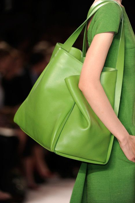 It is a green bag, but I don't think it's the right green color that Mom really likes.....