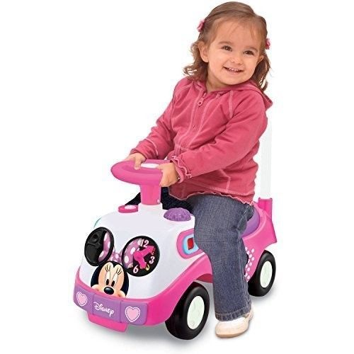 ICYMI: Pink Ride On Car Toddler Wheels Kids Girls Minnie Push Toy Fun Music Sounds Horn
