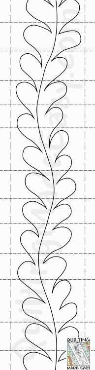 De 25 bedste id er til quiltning p pinterest for Quilting templates for borders
