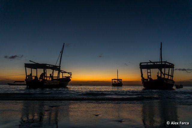 Sunset at Indian Ocean, Zanzibar