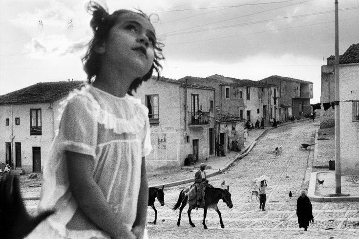 Sergio Larraín Main Street Corleone. Sicily, 1959. From Magnum Photos