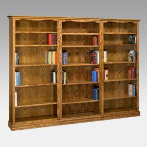 Concepts in Wood Double Wide Wood Veneer Bookcase - Bookcases at Hayneedle