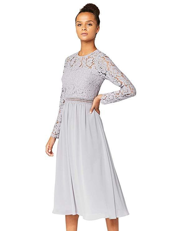 TRUTH /& FABLE Damen Maxi A-Linien-Kleid aus Spitze Marke