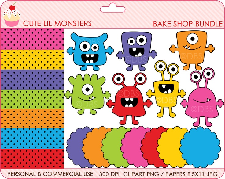 Monsters Clipart Aliens Clip Art Digital