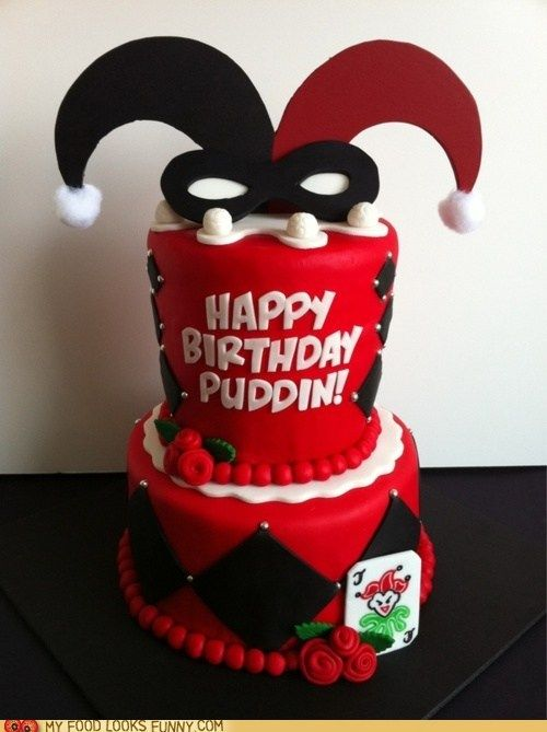 Harley Quinn Cake! OMG if I can make this for the joker in my life! I would feel so much win.