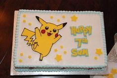 Pikachu Birthday Cake ideas