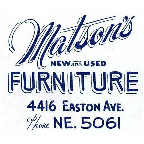 Matson's Furniture: Graphic Design, Logo, Sign Painting, Graphics, Typography, Type, Photo, Hand Lettering
