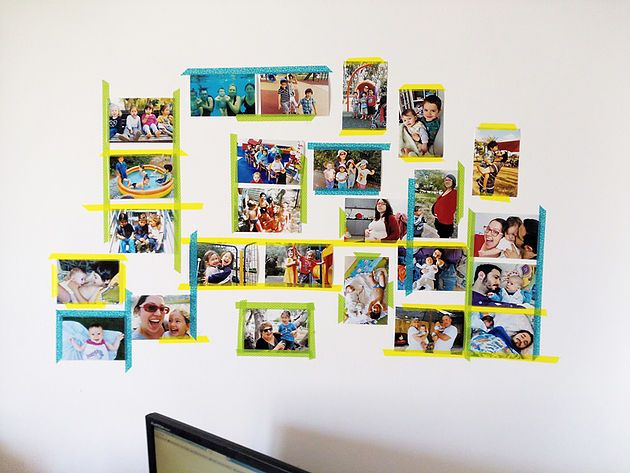 Ally Olson: Mother, Author, Parenting Advisor | Wall of photos design, washi tape ideas, memories