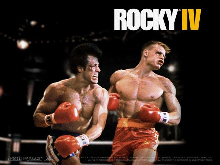 Rocky IV / Love the Stallion kicking Drago's ass in this movie.