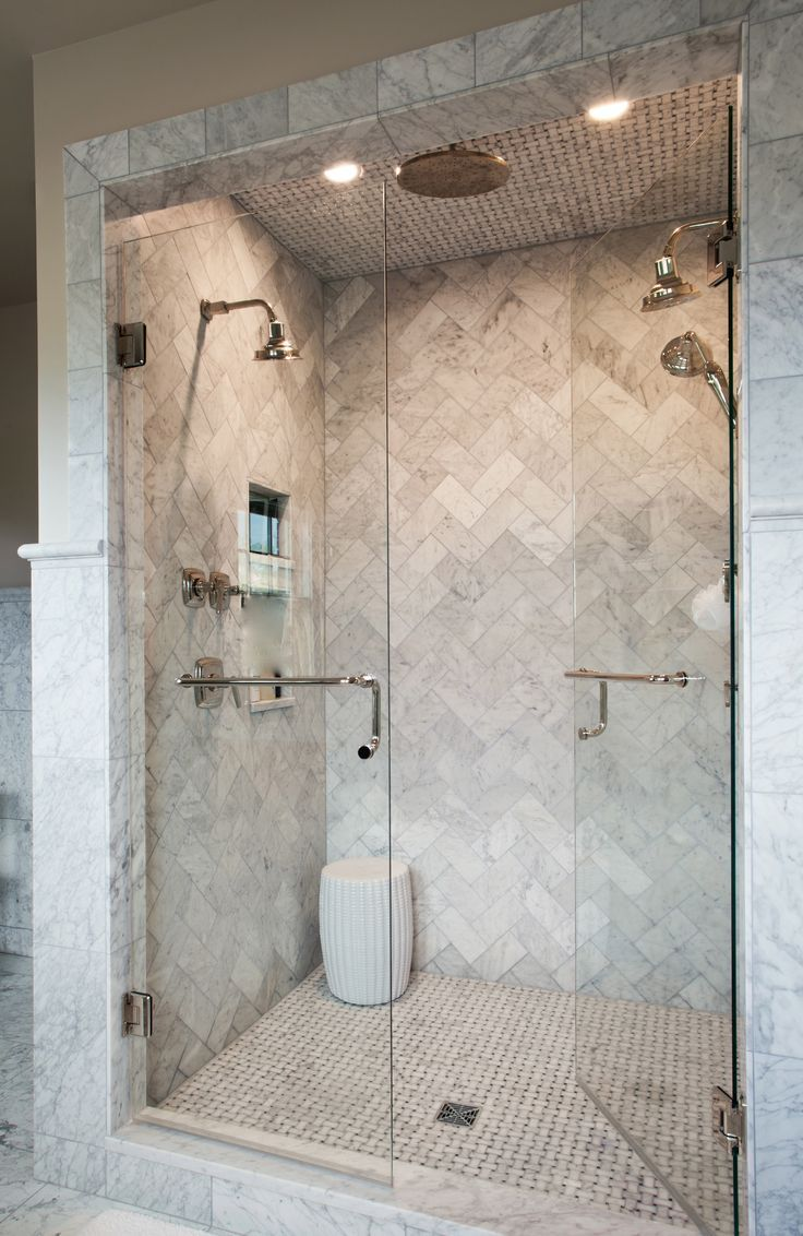 Wonderful Love This Marble Herringbone Shower | Source Marble Tiles Like This From  Mandarin Stone