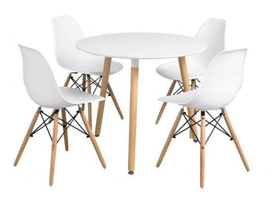 Furniture Joy - Orly Round Fixed Top Dining Table in White