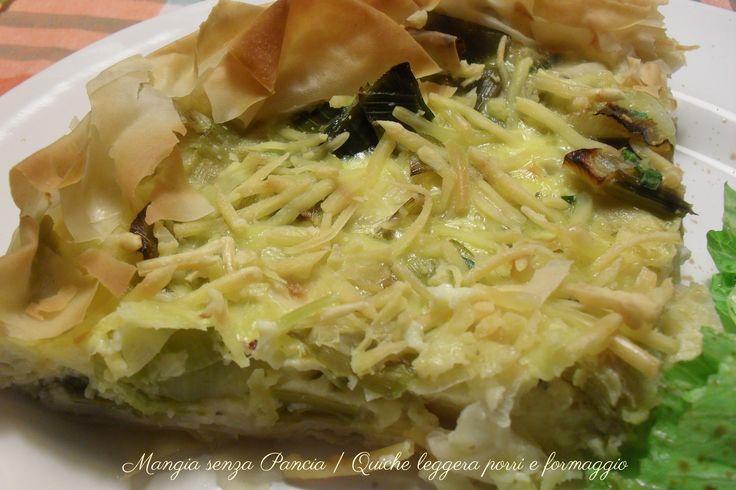 Quiche di porri e formaggio, ricetta leggera