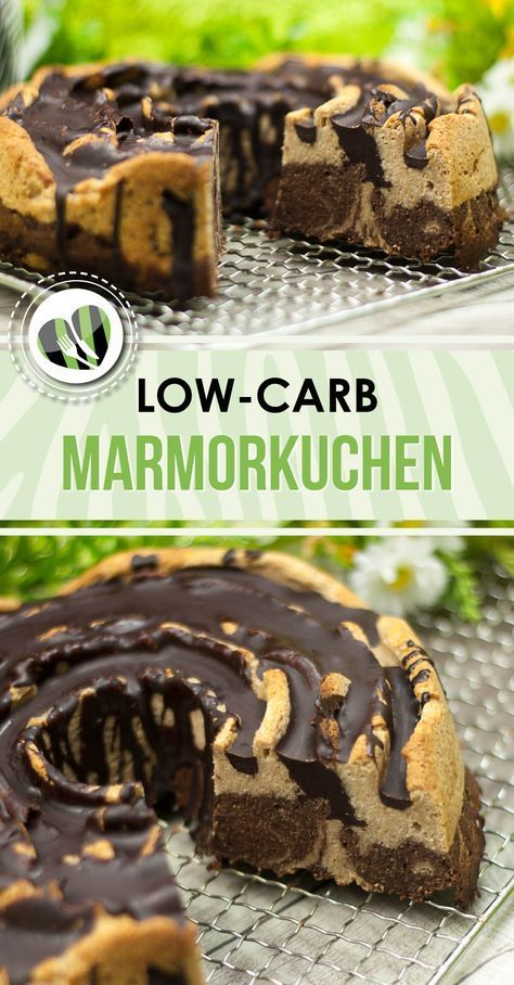 Der low-carb Marmorkuchen ist ein leckerer Kuchen der zudem auch noch glutenfrei ist.