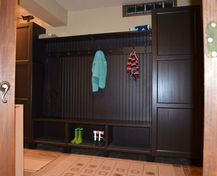 Built From Ikeau0027s Besta Unit, Added Wainscot  Great Mudroom Storage!