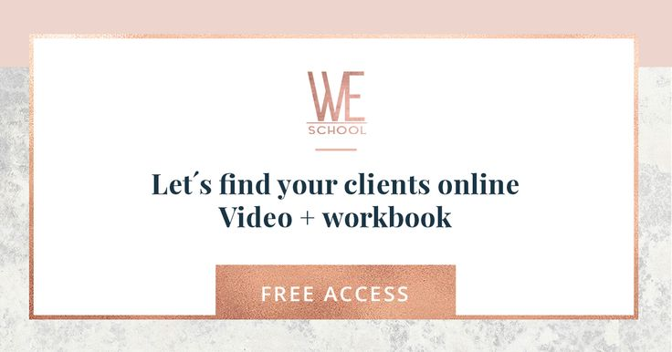 Join me in this free video and workbook where you can explore WHO your clients really are and how can we apply those characteristics to find them in social media.