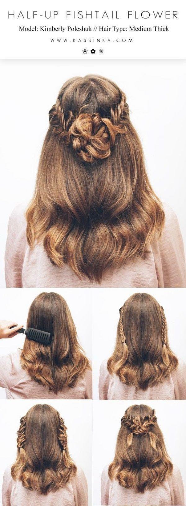 35 Greek Goddess Half-up Half-Down Hairstyles | Pinterest  Perfect Hair | #HairstyleTutorials