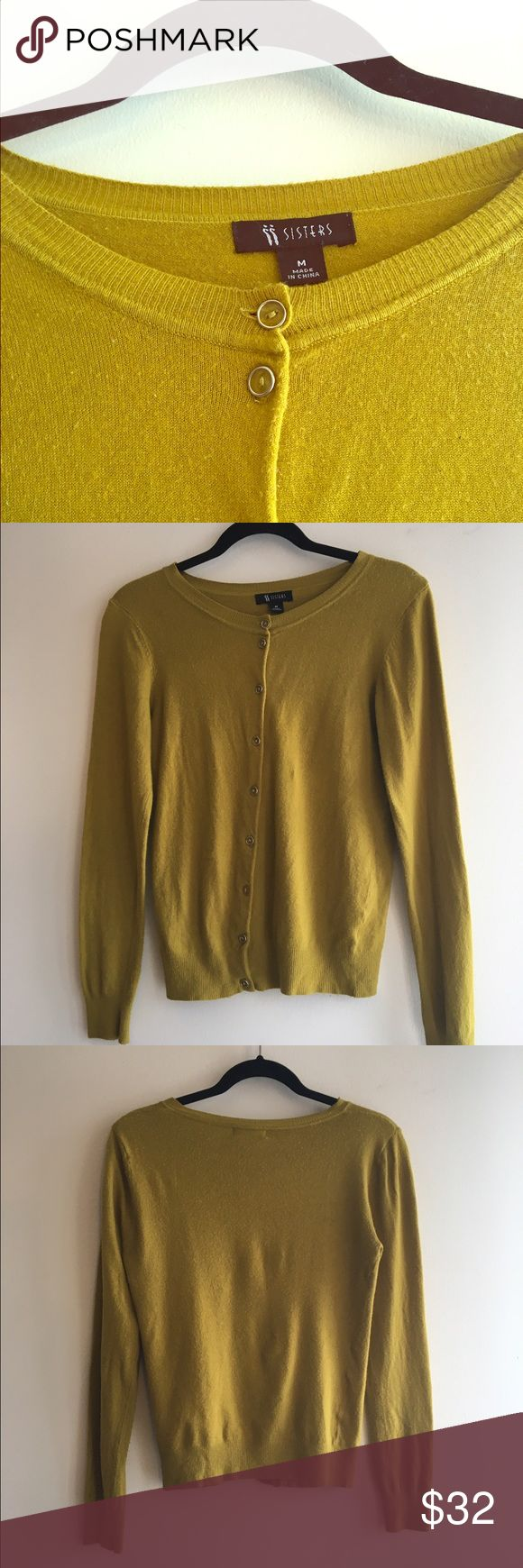 Sisters brand olive green cardigan. Sisters brand olive green cardigan. Sweaters Cardigans
