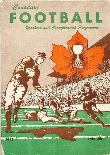 1952 Grey Cup program