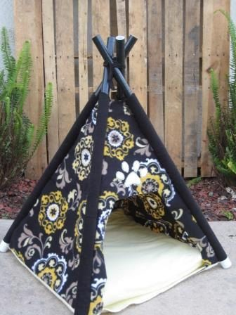 dog bed house teepee tent by PawsnClawsPetTeepees on Etsy, $45.00