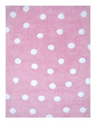 Op zoek naar een Vloerkleed Roze met Witte Polkadots 120x160cm? Bij Saartje Prum vind je de leukste Katoenen vloerkleden voor de kinderkamer.